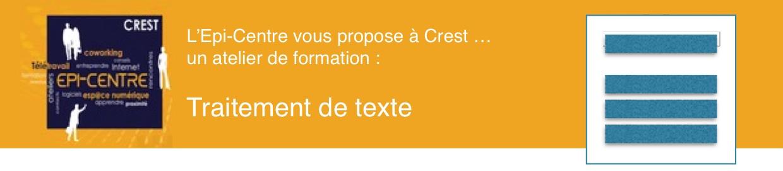 Epi-Centre - Formation - Traitement de texte