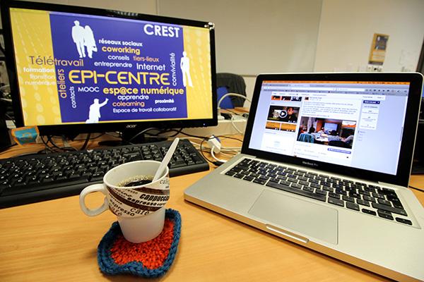 Epi-centre Crest Drôme Coworking Télétravail Médiation numérique Espace de travail collaboratif Tiers-Lieux